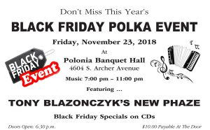 Black Friday Polka Event - Friday, November 23, 2018